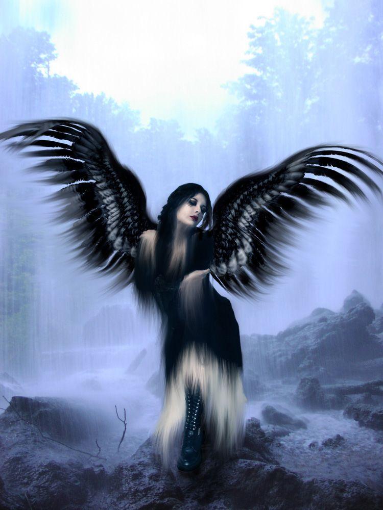 Ange gothique - Dessin ange noir et blanc ...